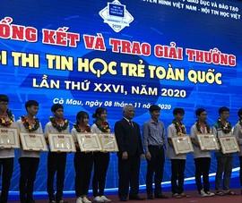 Hà Nội, Lâm Đồng, TP.HCM giật giải Tin học trẻ toàn quốc