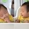 Đáng yêu xem bé vừa ăn vừa ngủ