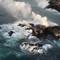 Nham thạch núi lửa lan rộng, tạo thành đảo nhỏ ở Hawaii