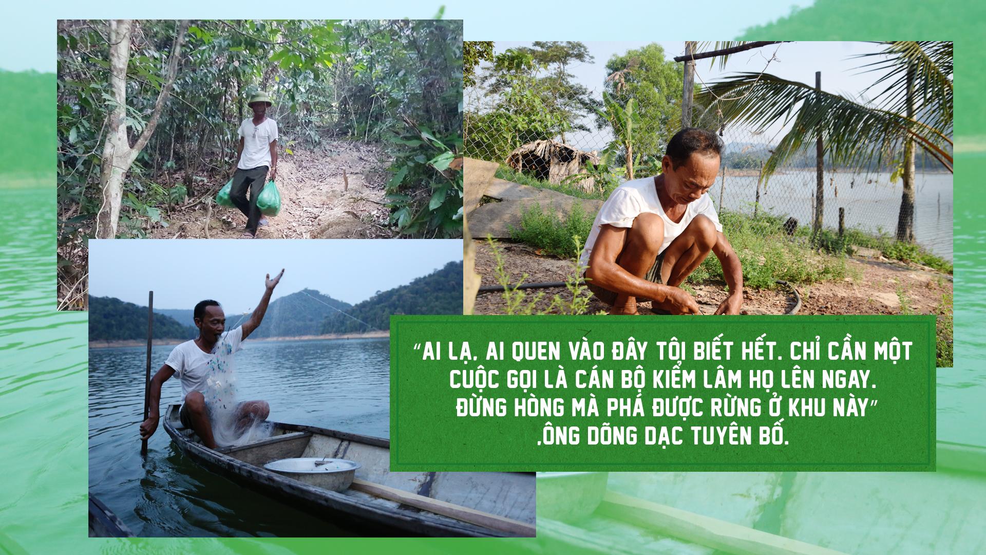 Hai 'dị nhân' 17 năm sống giữa lòng hồ bảo vệ rừng - ảnh 14