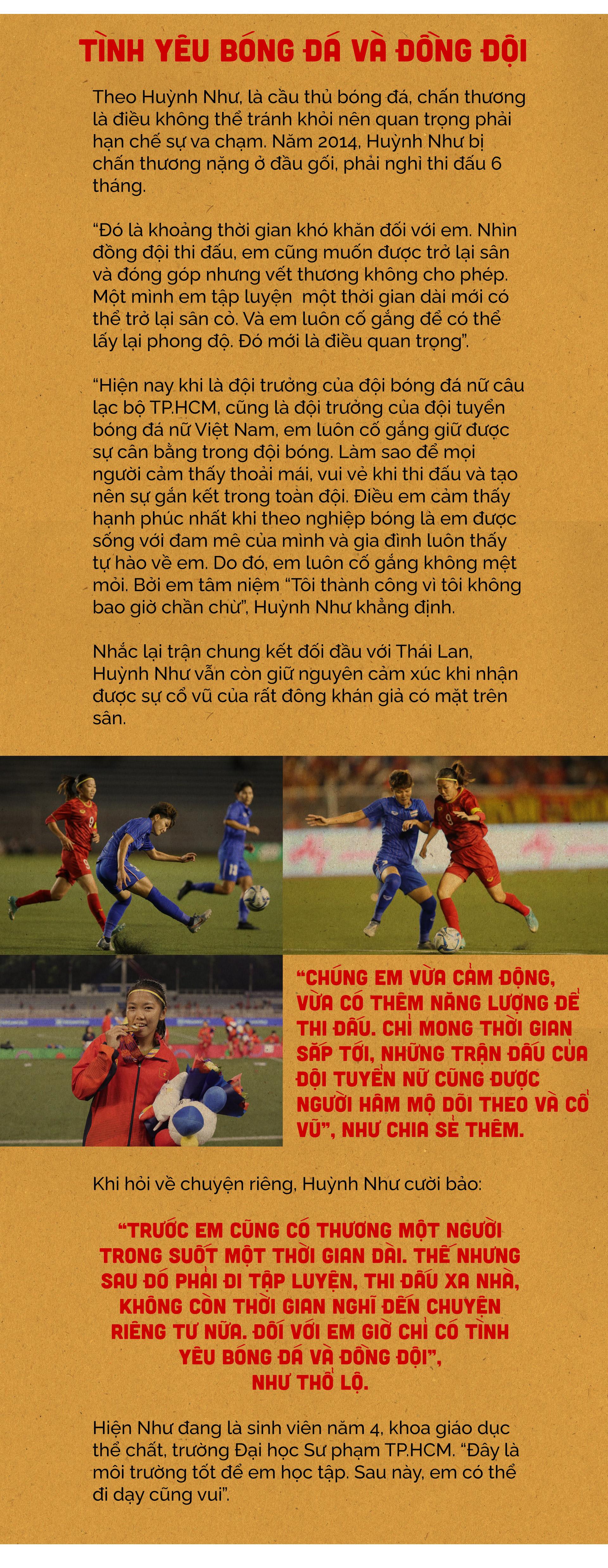 Nữ cầu thủ Huỳnh Như: Bóng đá là tình yêu của tôi - ảnh 4
