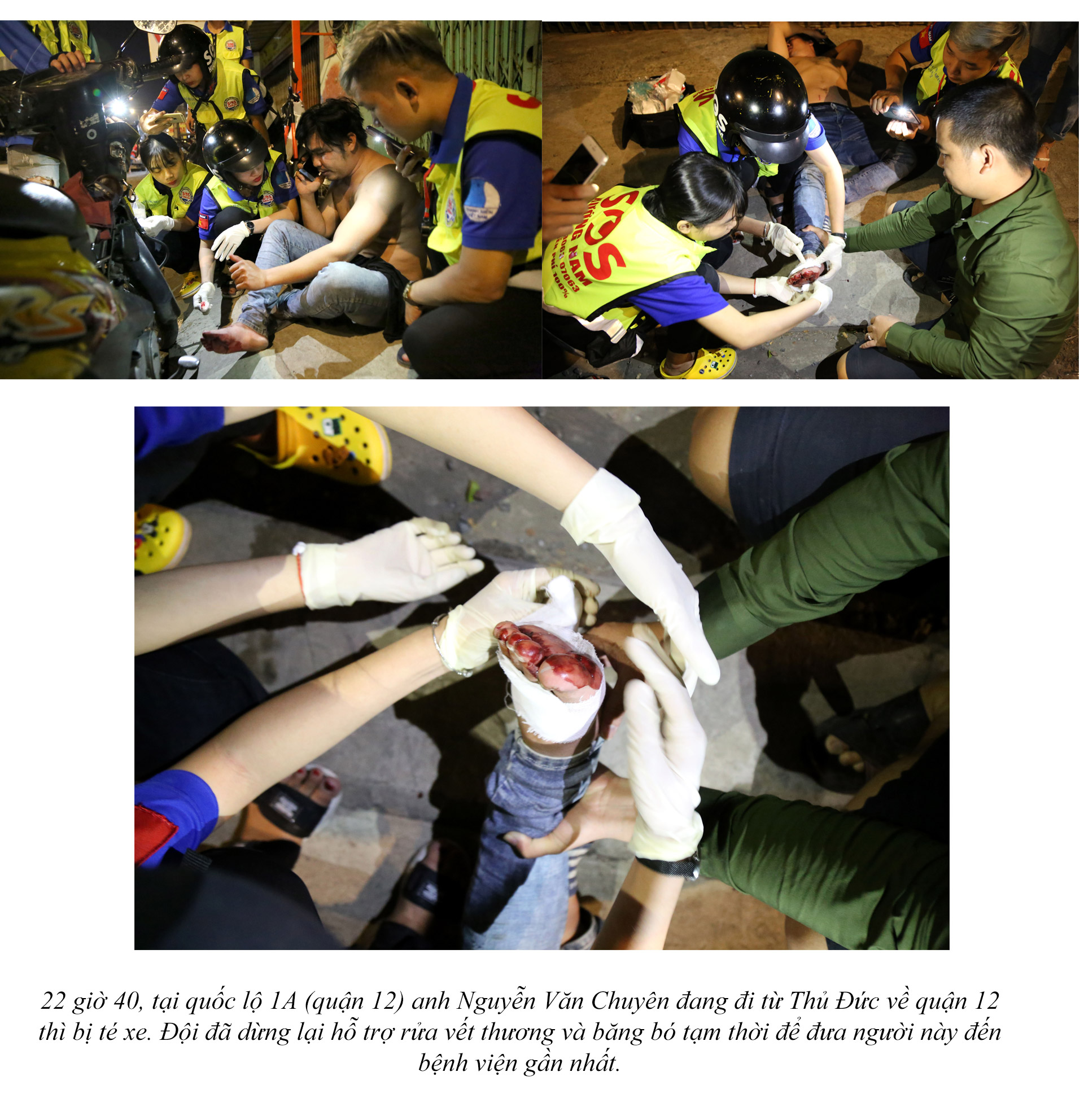 Biệt đội cứu hộ xuyên đêm miễn phí ở Sài Gòn - ảnh 20