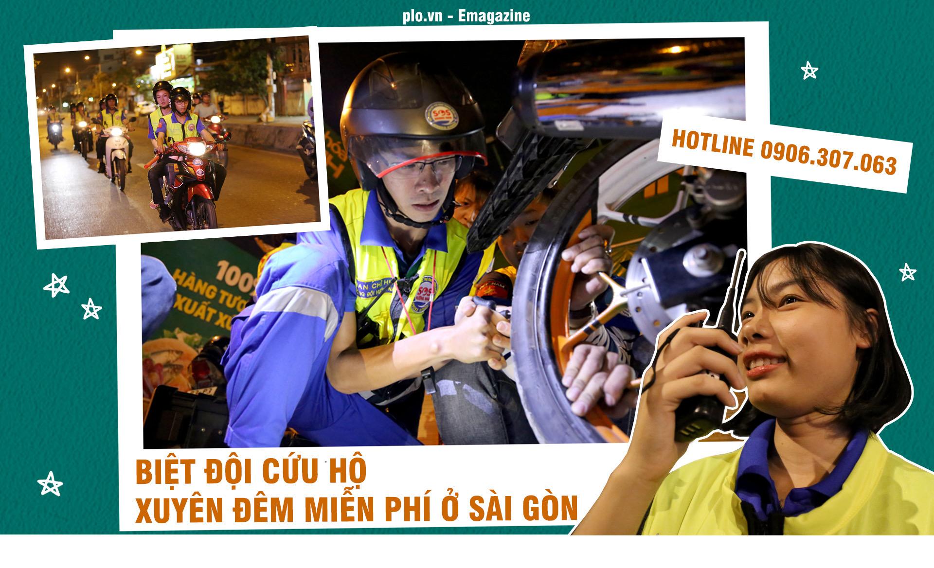 Biệt đội cứu hộ xuyên đêm miễn phí ở Sài Gòn