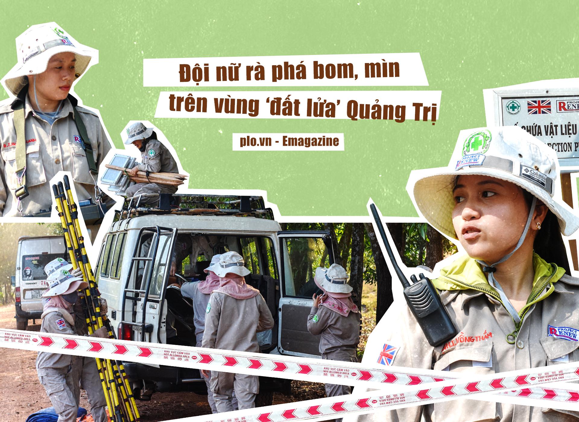 Đội nữ rà phá bom, mìn vùng 'đất lửa' Quảng Trị