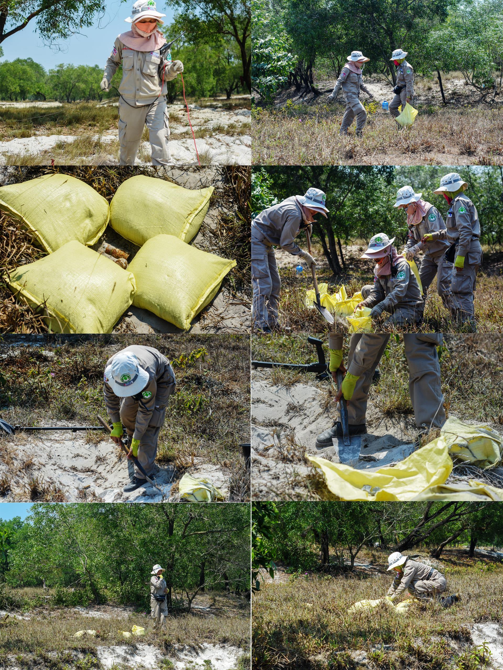 Đội nữ rà phá bom, mìn vùng 'đất lửa' Quảng Trị - ảnh 5