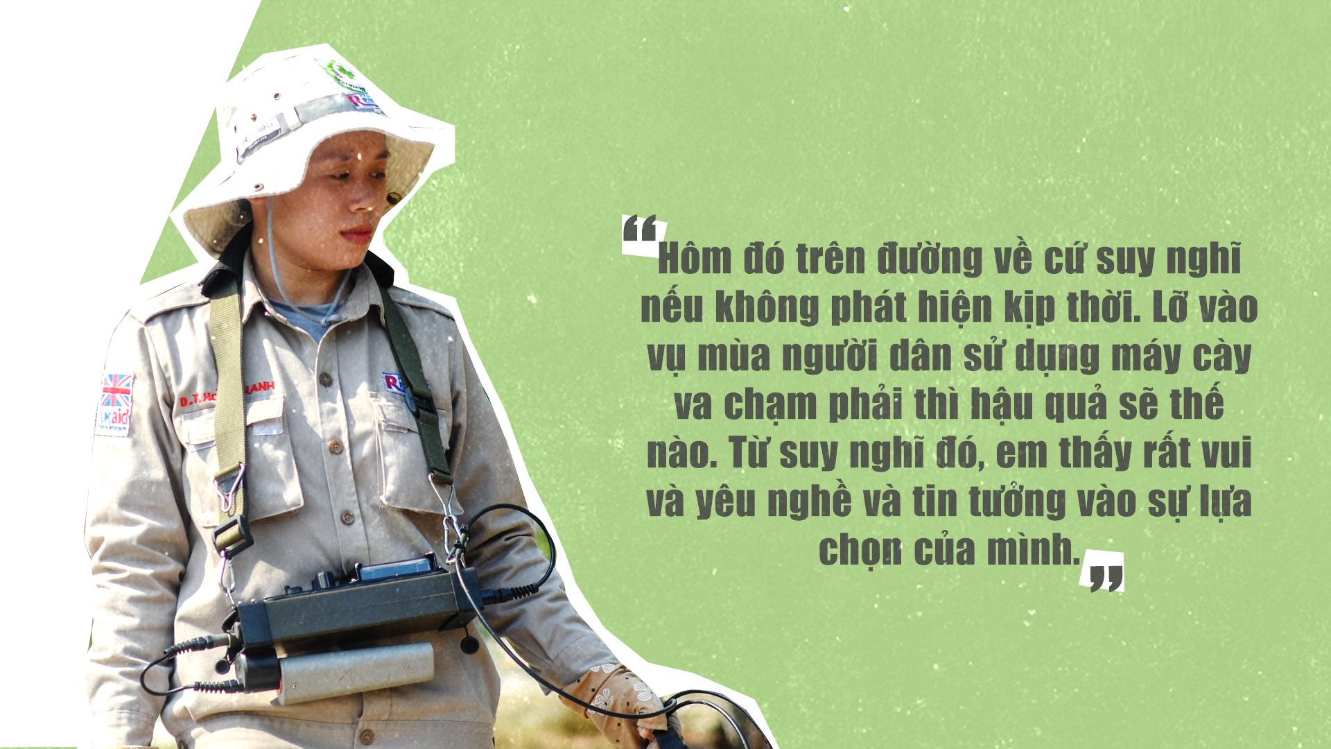 Đội nữ rà phá bom, mìn vùng 'đất lửa' Quảng Trị - ảnh 9