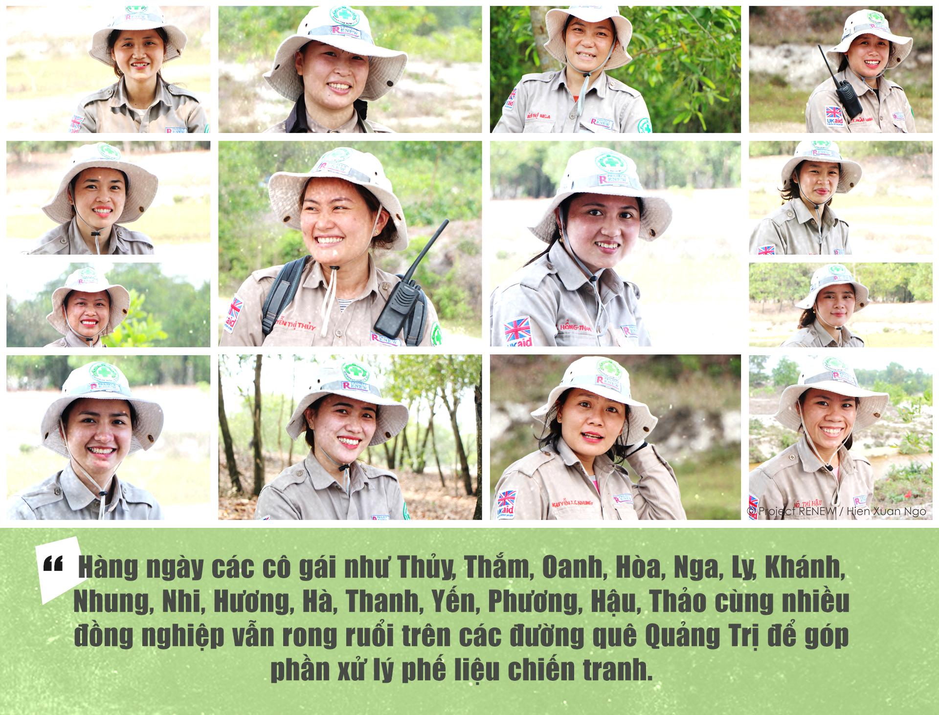 Đội nữ rà phá bom, mìn vùng 'đất lửa' Quảng Trị - ảnh 11