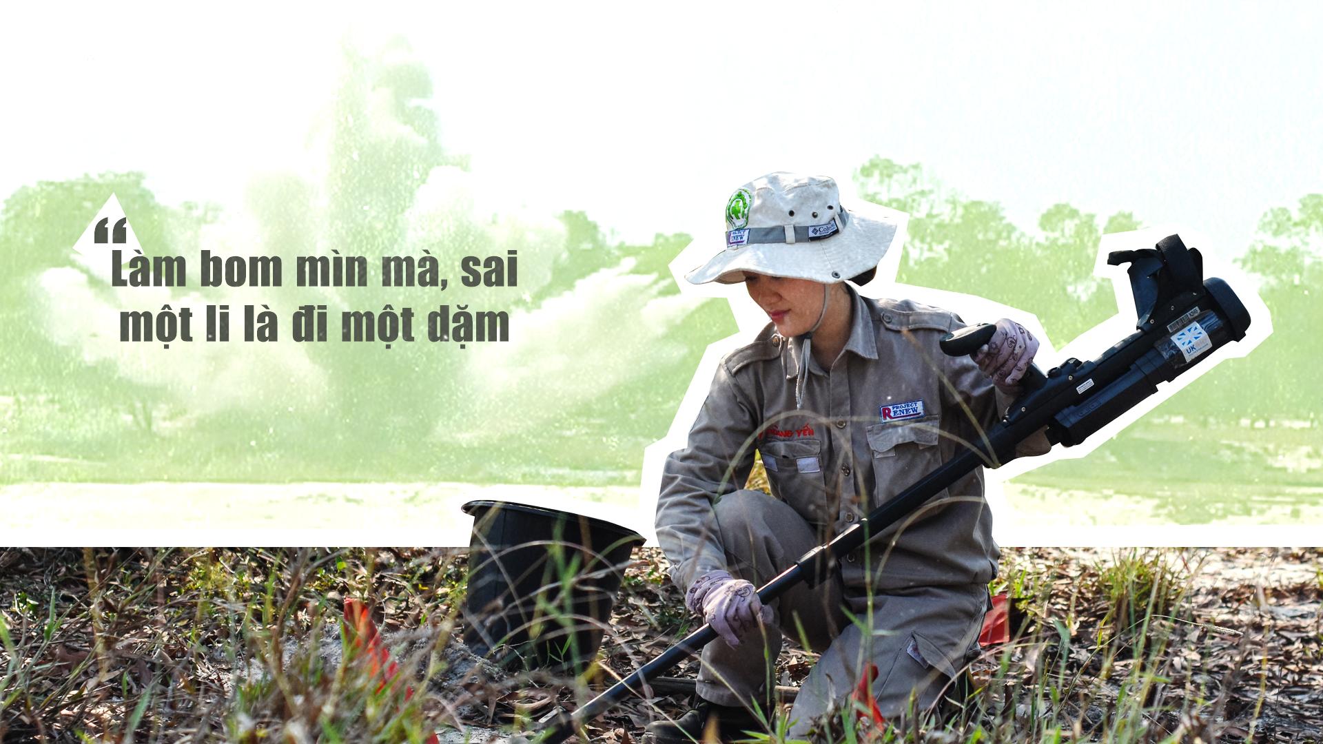 Đội nữ rà phá bom, mìn vùng 'đất lửa' Quảng Trị - ảnh 1