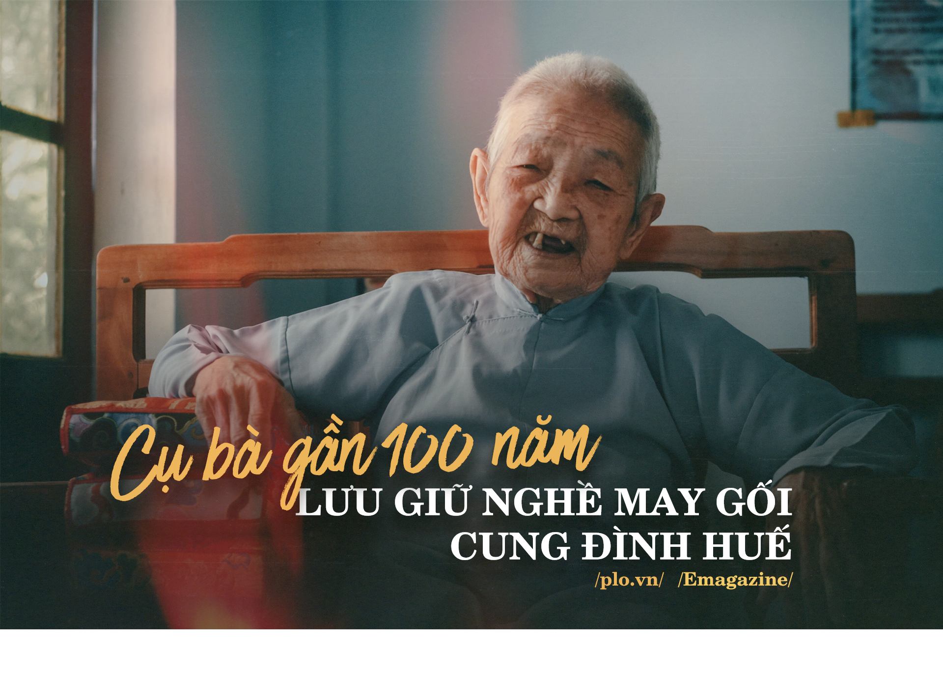 Cụ bà gần 100 năm lưu giữ nghề may gối cung đình Huế