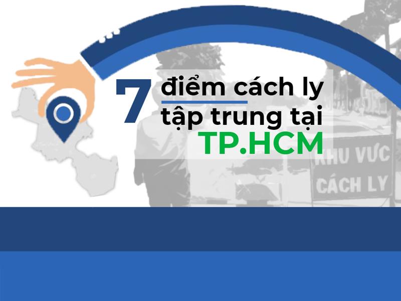 Infographic: 7 điểm cách ly tập trung tại TP.HCM