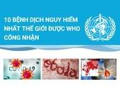 10 bệnh dịch nguy hiểm nhất thế giới được WHO công nhận