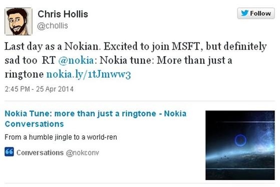 Ngày cuối cùng được là người Nokia. Rất vui khi gia nhập Microsoft nhưng vẫn không khỏi buồn