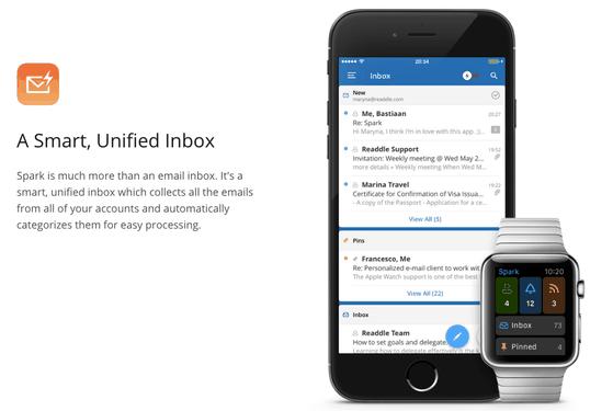 Spark giúp tự động phân loại email
