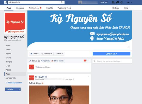 Facebook thay đổi toàn bộ giao diện fanpage