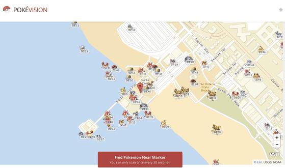 Dò tìm vị trí pokemon trên bản đồ