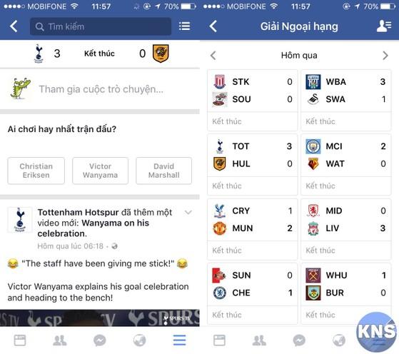 facebook sports