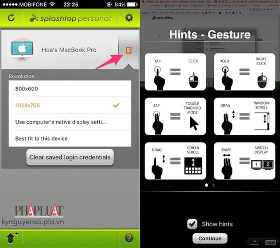 Điều khiển và mở ứng dụng trên máy tính bằng iPhone