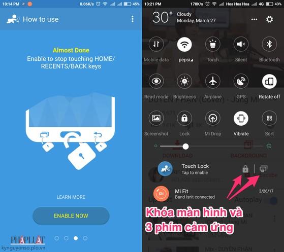 Mẹo vô hiệu hóa màn hình cảm ứng trên smartphone