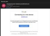 Chiêu lừa mới đánh cắp tài khoản Google, Facebook