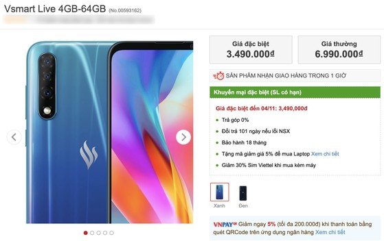 Vsmart Live bất ngờ giảm giá chỉ còn 3,2 triệu đồng