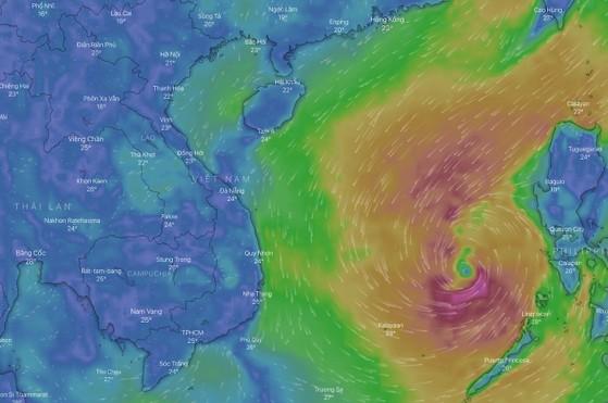 Cách theo dõi đường đi của cơn bão số 6 (Nakri)