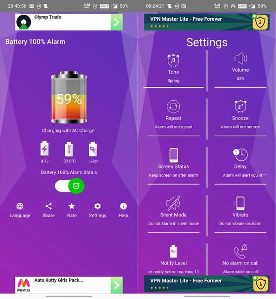 Battery-100%-Alarm
