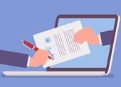 Cách ký tên khi thực hiện các thủ tục hành chính qua mạng