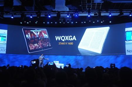 Màn hình độ phân giải siêu nét là điểm ấn tượng nhất trên Galaxy NotePro và Galaxy TabPro.