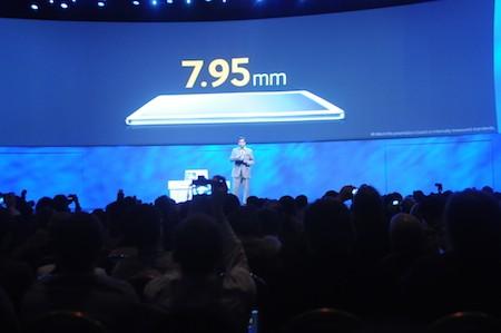Thiết kế mỏng 7,95mm.