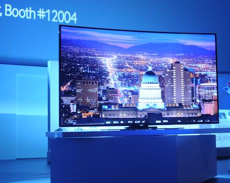 UHD TV màn hình cong với kích thước 78 inch.