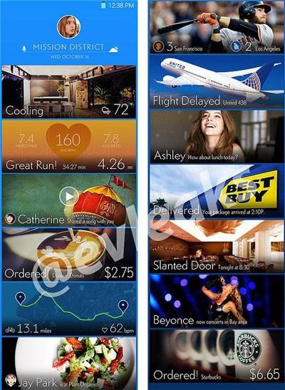 Hình ảnh được cho là giao diện TouchWiz mới trên Galaxy S5.