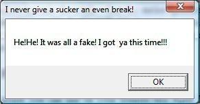 """Thông báo virus giả mạo trên máy tính """"nạn nhân"""""""