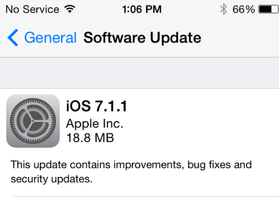 iOS 7.1.1, iPhone, iPad, iPod Touch
