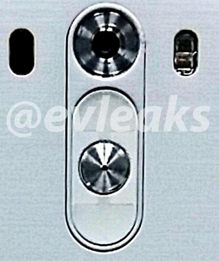 Hình ảnh cụm phím điều khiển ở mặt sau của LG G3 vừa được EVLeaks đăng tải