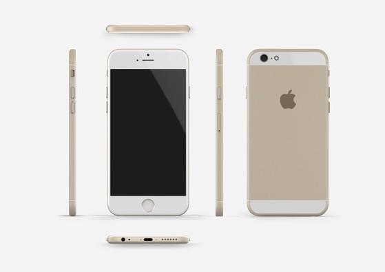 Bản dựng mới của iPhone 6 với phần ăng-ten hẹp và sang trọng hơn.
