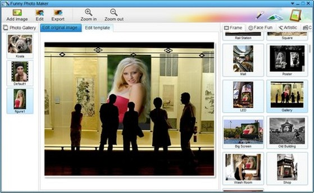 Phần mềm sẽ chia ra các hiệu ứng theo 4 nhóm riêng biệt, nằm ở menu bên phải, bao gồm: