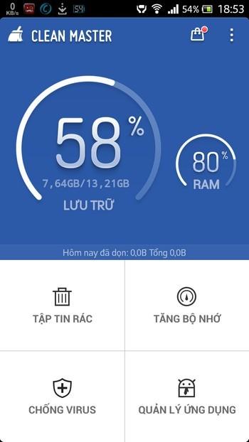 Clean Master được đánh giá là ứng dụng dọn dẹp Android hàng đầu hiện nay