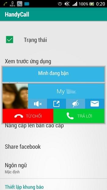 Tuyệt chiêu nhận cuộc gọi đến mà không làm gián đoạn ứng dụng đang chạy trên smartphone