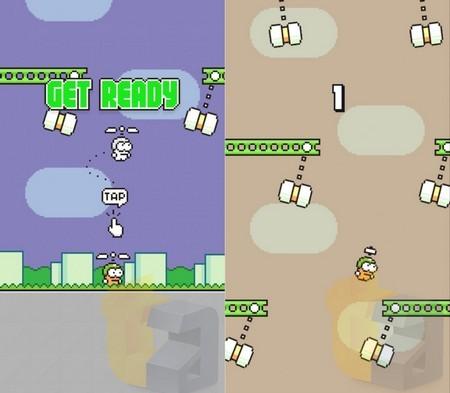 Swing Copters có nhiều nét tương đồng về đồ họa và cách chơi so với Flappy Bird trước đây