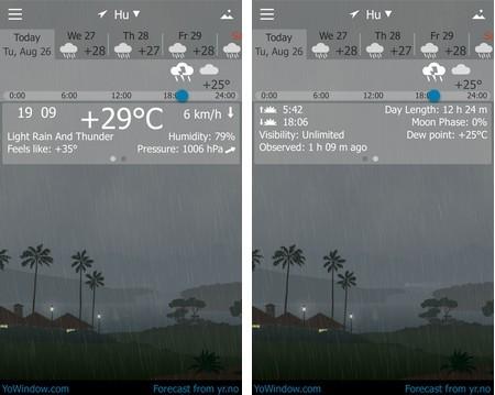 Ứng dụng thời tiết với hiệu ứng sống động và đẹp mắt cho smartphone