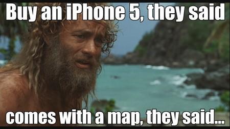 Ảnh chế châm biếm lỗi bản đồ của Apple, khiến người dùng... lạc ra đảo hoang