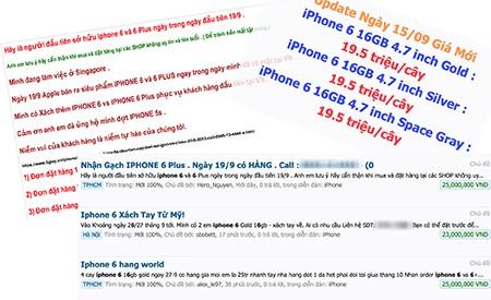Nhiều cửa hàng đã cho đặt hàng iPhone 6 và nhận hàng từ ngày 19/9
