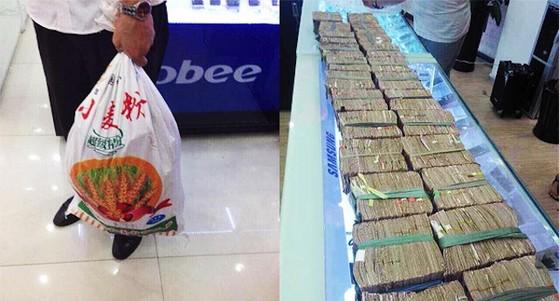 mua 5 chiếc iPhone 5S, iPhone 5S, vác 3 bao tải tiền lẻ, Apple, Ôn Châu, Trung Quốc, ba bao tải tiền lẻ