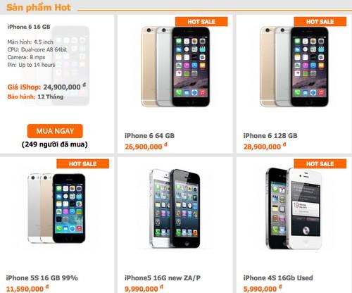 Giá iPhone 6 giảm liên tục sau khoảng 3 ngày có mặt trên thị trường nhưng sức tiêu thụ vẫn rất mạnh.