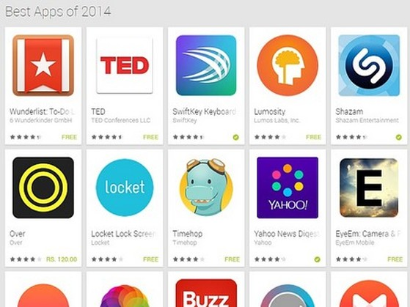 Google công bố danh sách những ứng dụng tốt nhất năm 2014 trên Android