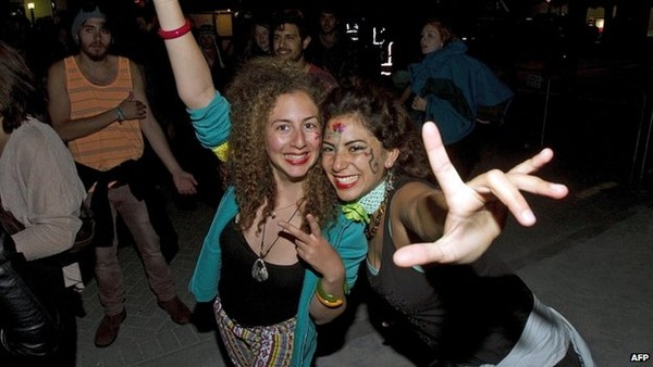 In the New Zealand town of Queenstown, revellers partied ahead of the New Year