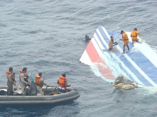 Mảnh vỡ máy bay của hãng Air France được tìm thấy trên biển năm 2011. Ảnh:airfactsjournal.com