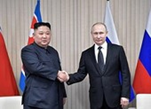 Triều Tiên phát hành tem kỷ niệm cuộc gặp Tổng thống Putin