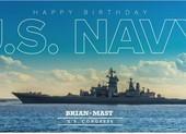 Nghị sĩ Mỹ dùng ảnh tàu chiến Nga để chúc mừng Hải quân Mỹ