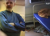 Lộ video ông chủ Wikileaks trong nhà tù Belmarsh